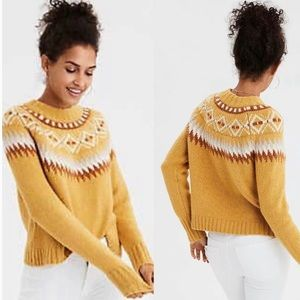 NEW American Eagle Fair Isle Nordic Sweater